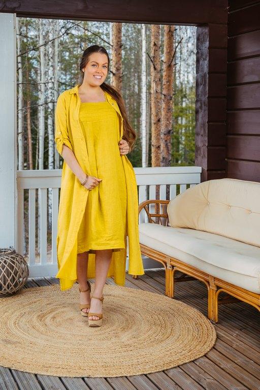 Hebu - Amanda Pellavamekko keltainen